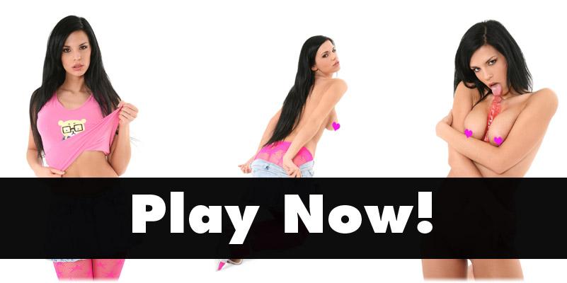 Alyssia Loop in pink stockings