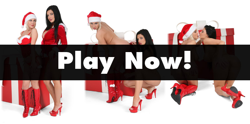 Mandy Dee and Aletta Ocean in Christmas outfits