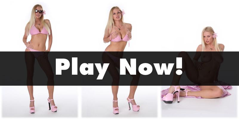 Nikita in a pink bikini..